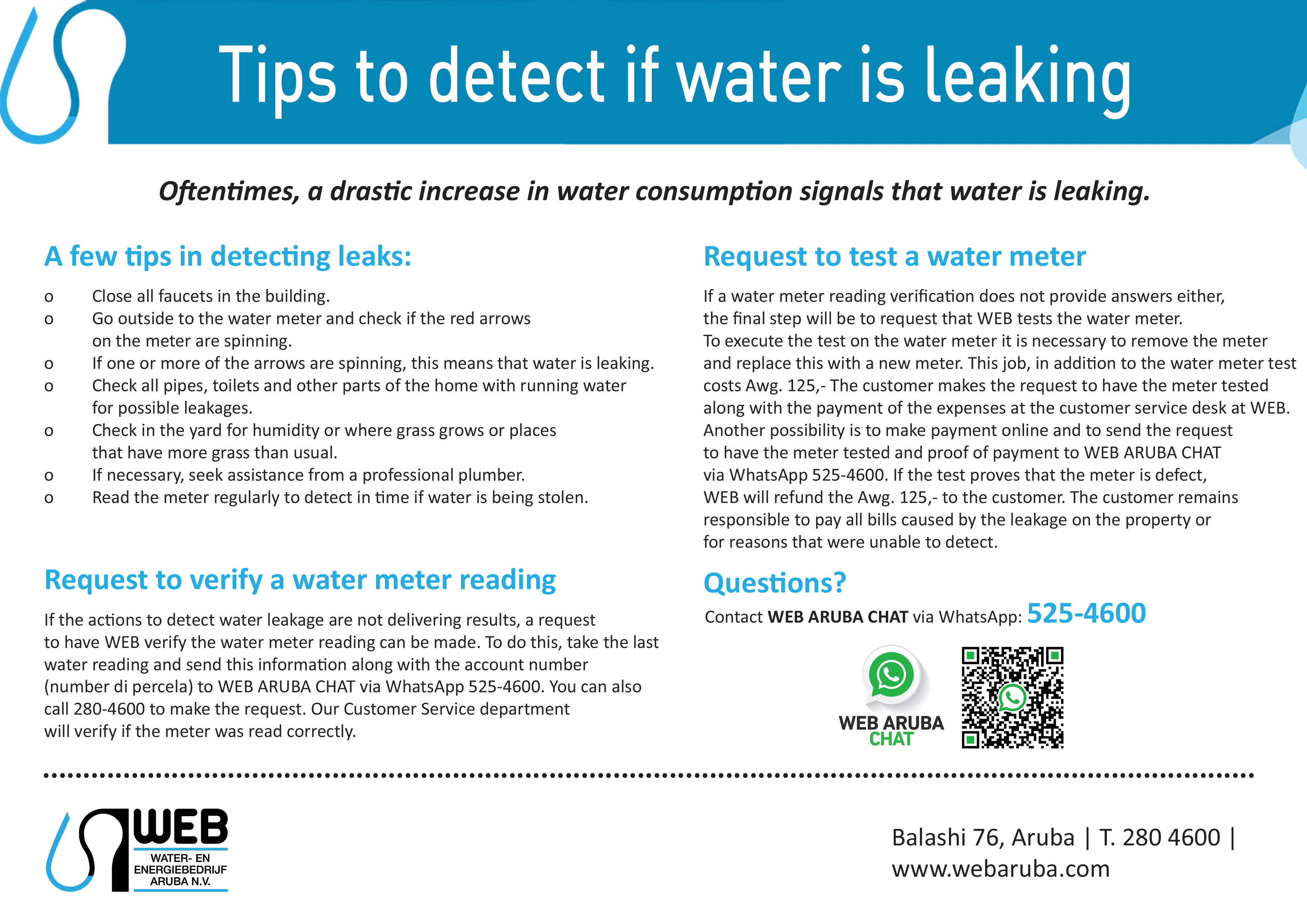 Tips on leakages